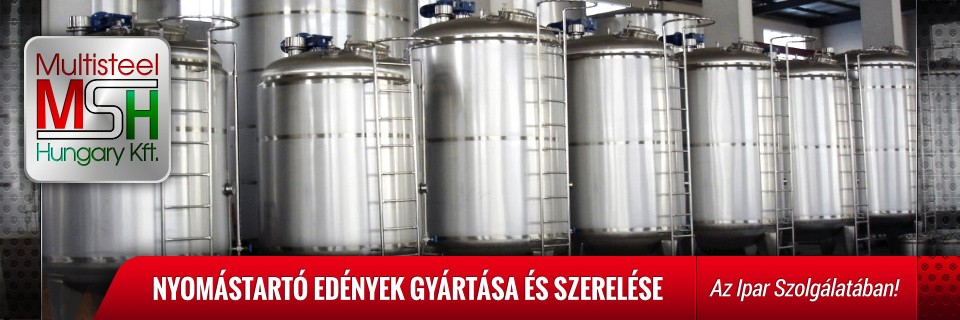 Multisteel Hungary Saválló tartály
