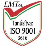 EMT Zrt tanúsítvány ISO 9001