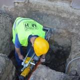 Betonfúrás és csővezeték bekötés