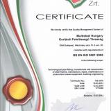 EMT Certificate (BS EN ISO 9001:2008)