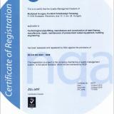 NQA Certificate (BS EN ISO 9001:2008)