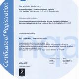NQA Tanúsítvány (MSZ EN ISO 9001:2009)